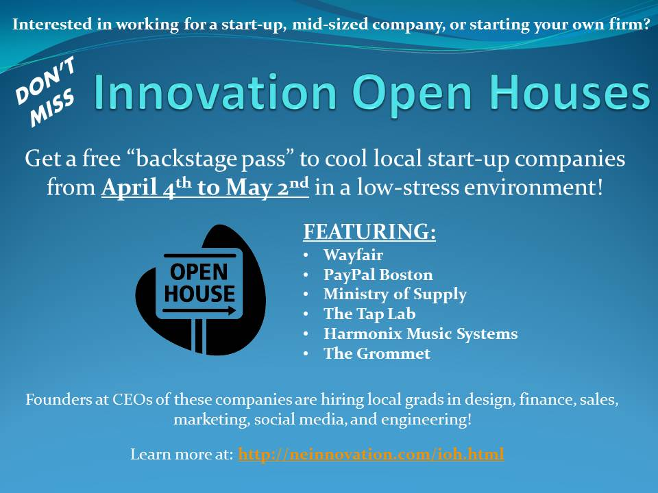 Innovation Open Houses