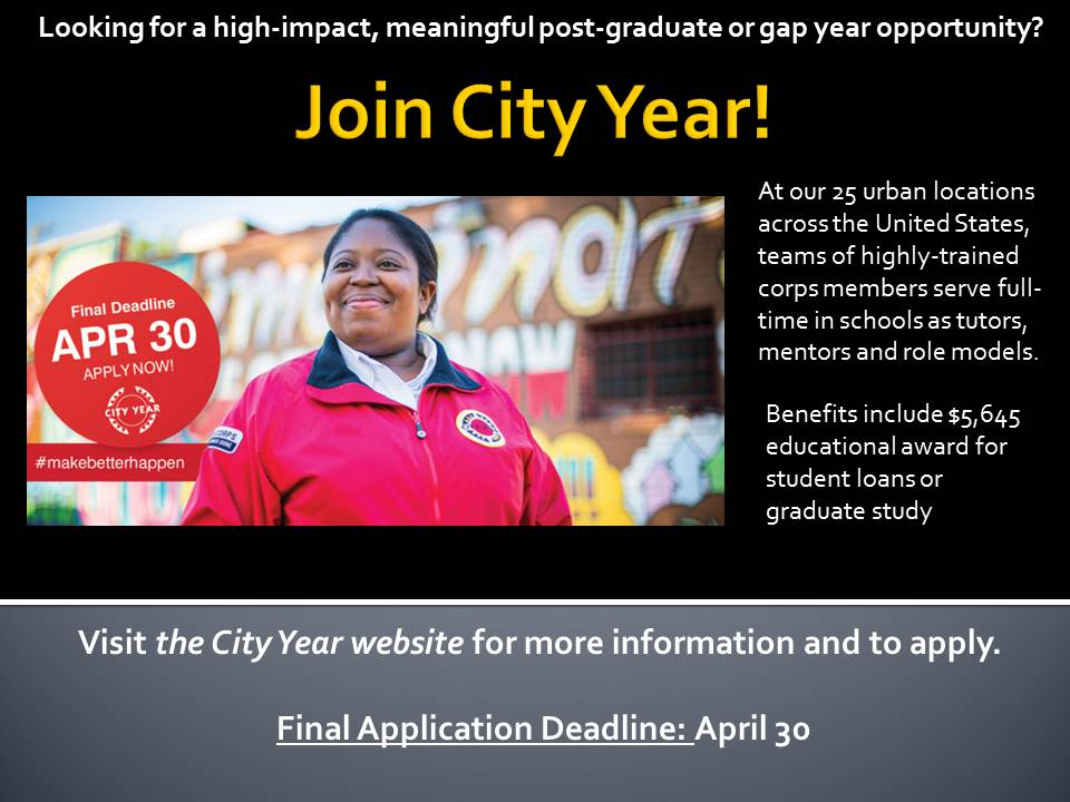 Join City Year!