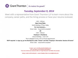 Grant Thornton Open Event & Employer in Residence