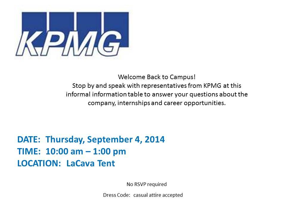 KPMG Welcome Back