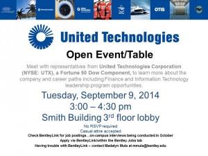 UTC- Open Event Table
