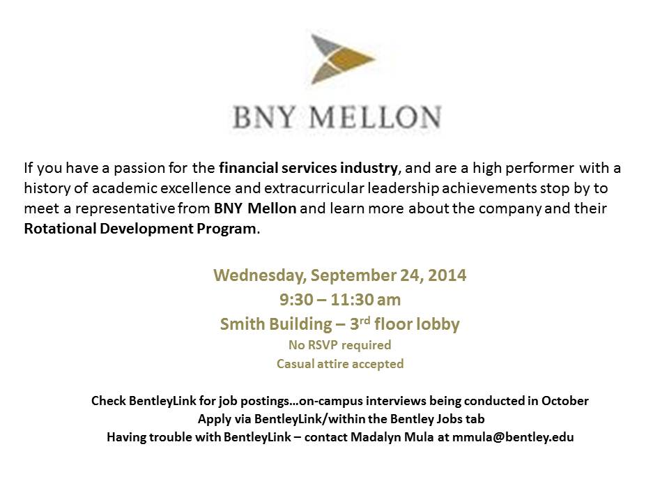 BNY Mellon - Open Event Table