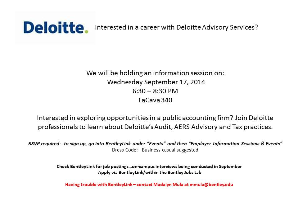 Deloitte - Advisory Open Info Session