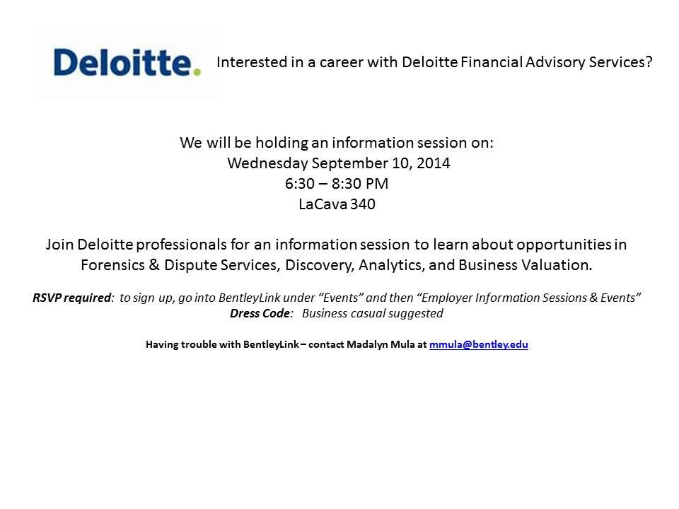 Deloitte - FAS Open Info Session