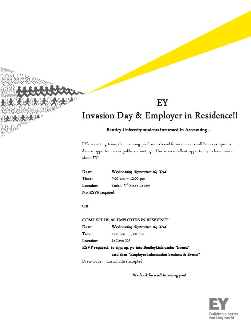 Ernst & Young Invasion Day Flyer
