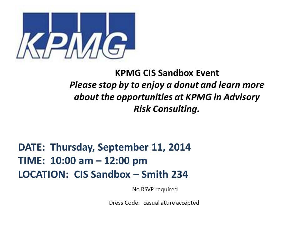 KPMG Open Event Table - at Sandbox