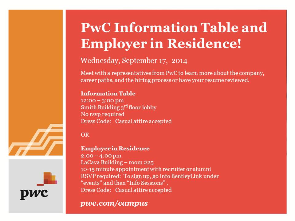 PWC - Sept 17th Open Event Table and Career Conversations - updated