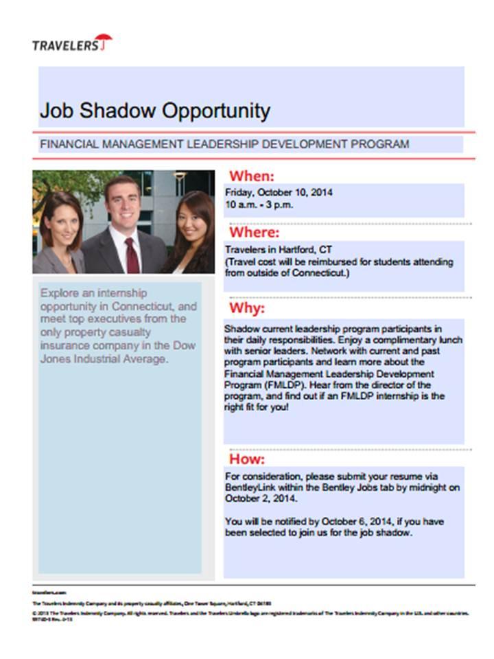 Travelers FMLDP Job Shadow