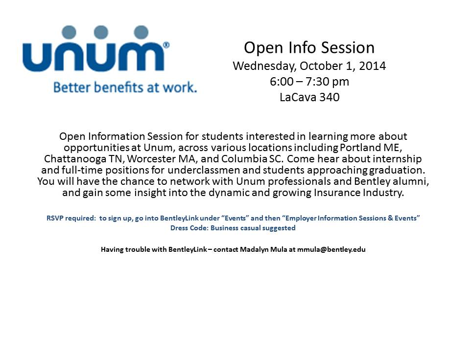 Unum Open Info Session